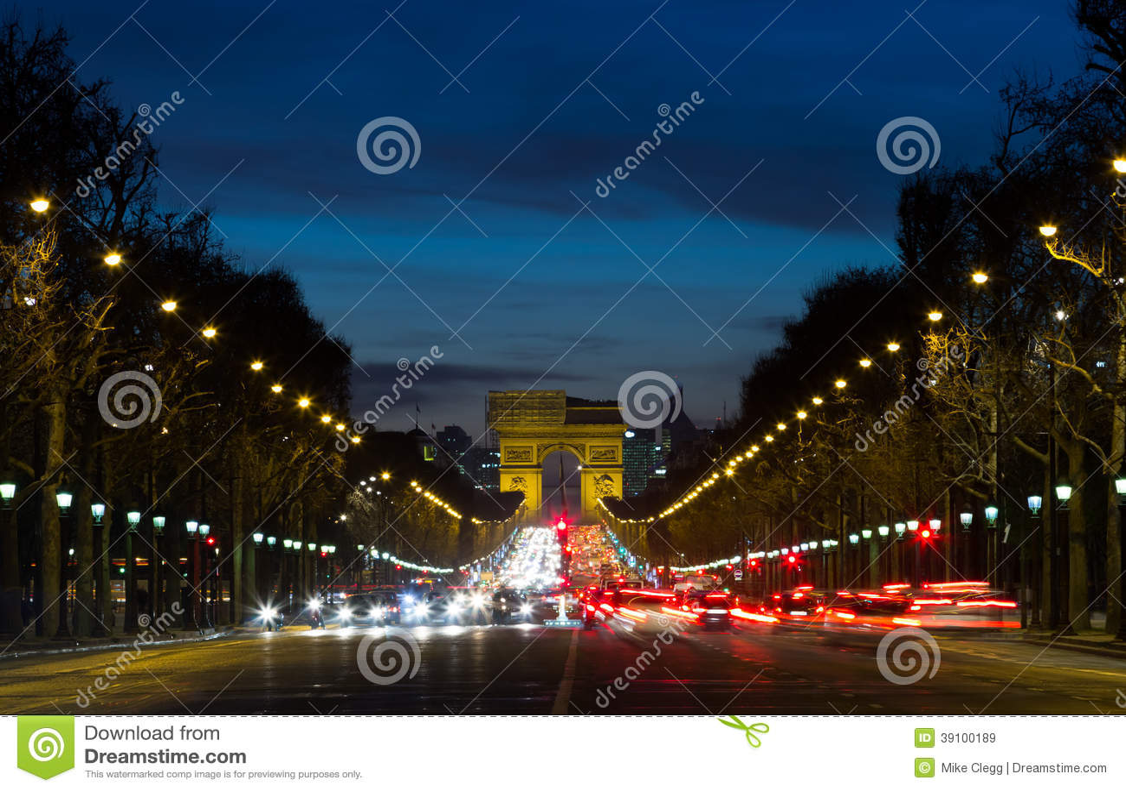 Arc de Triomphe en verkeer