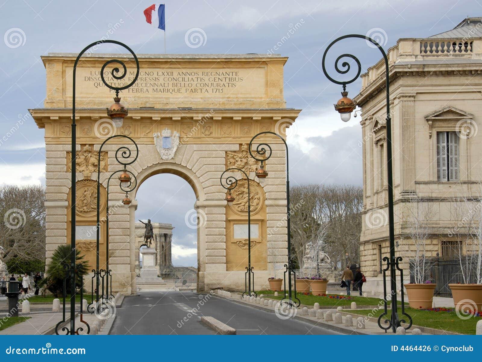 Arc de triomphe montpellier royalty free stock image image 4464426 - Arc de triomphe montpellier ...