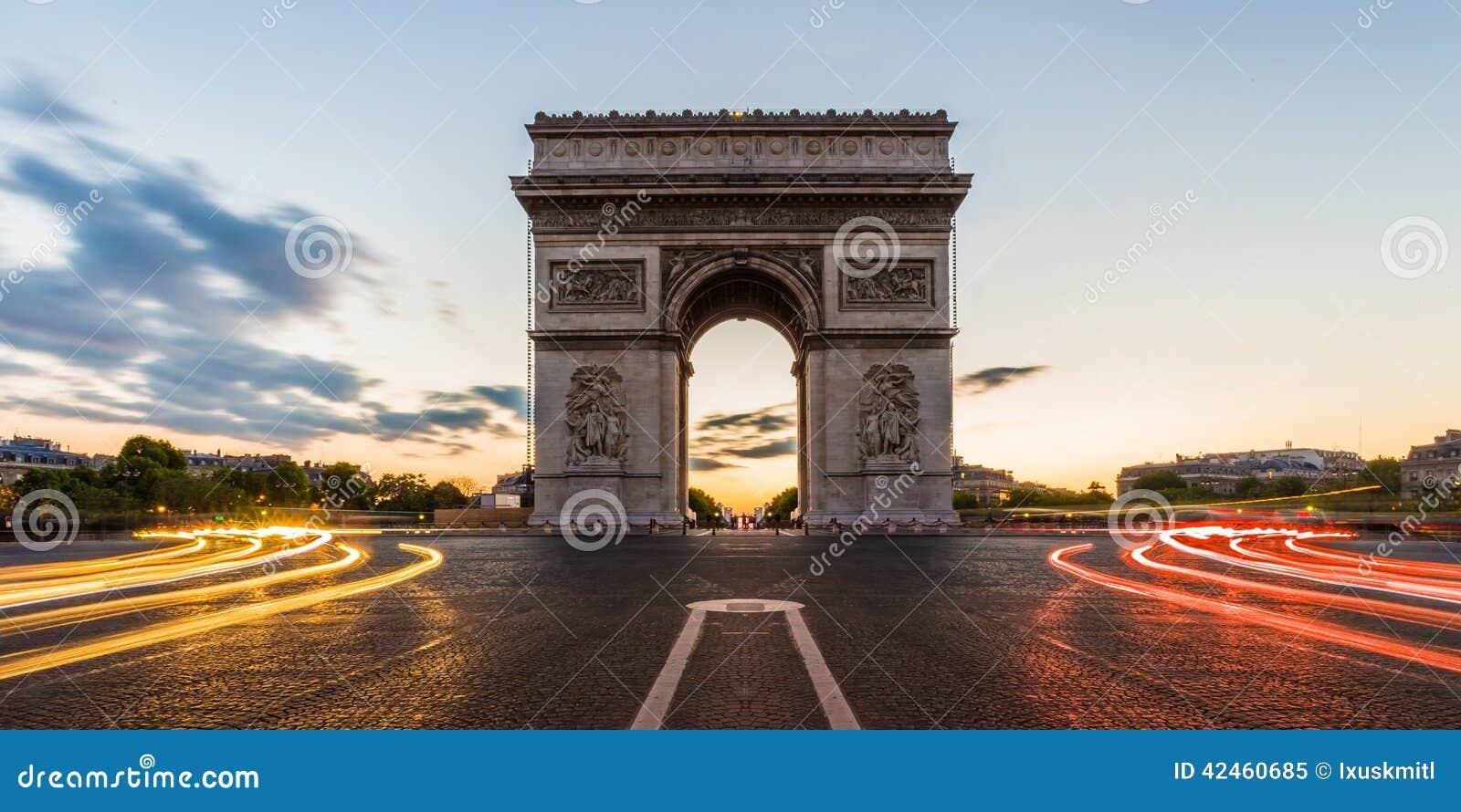 Arc de Triomphe Paris, Frankreich