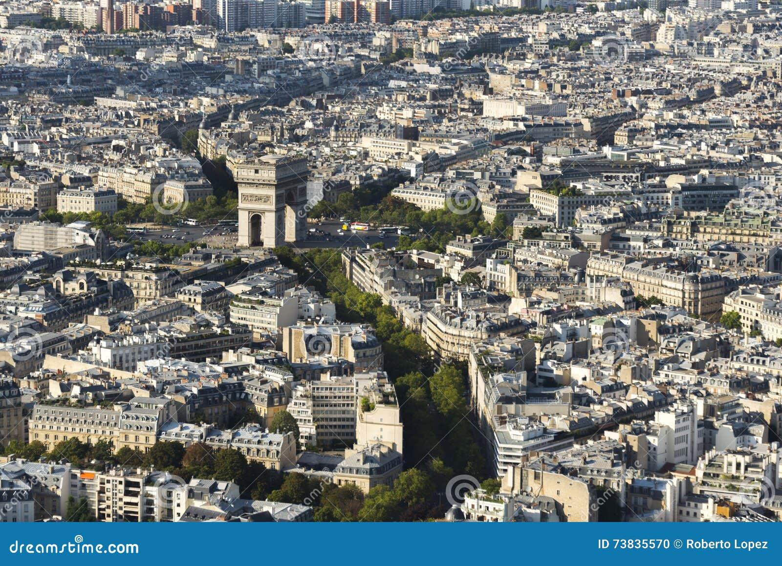 Arc de Triomphe visto dalla torre Eiffel