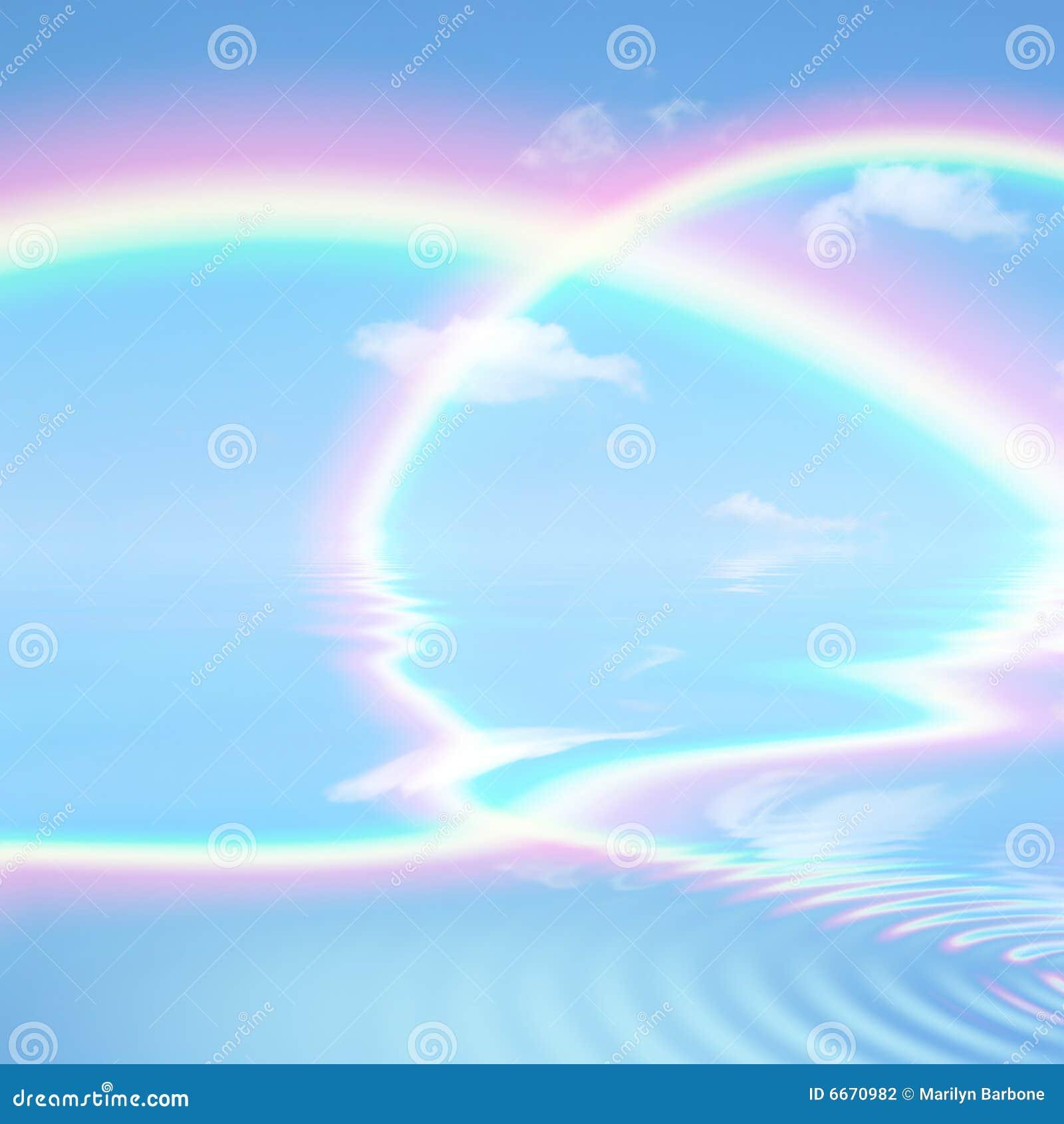 Arc en ciel c leste de beaut photographie stock image for Photographie de stock