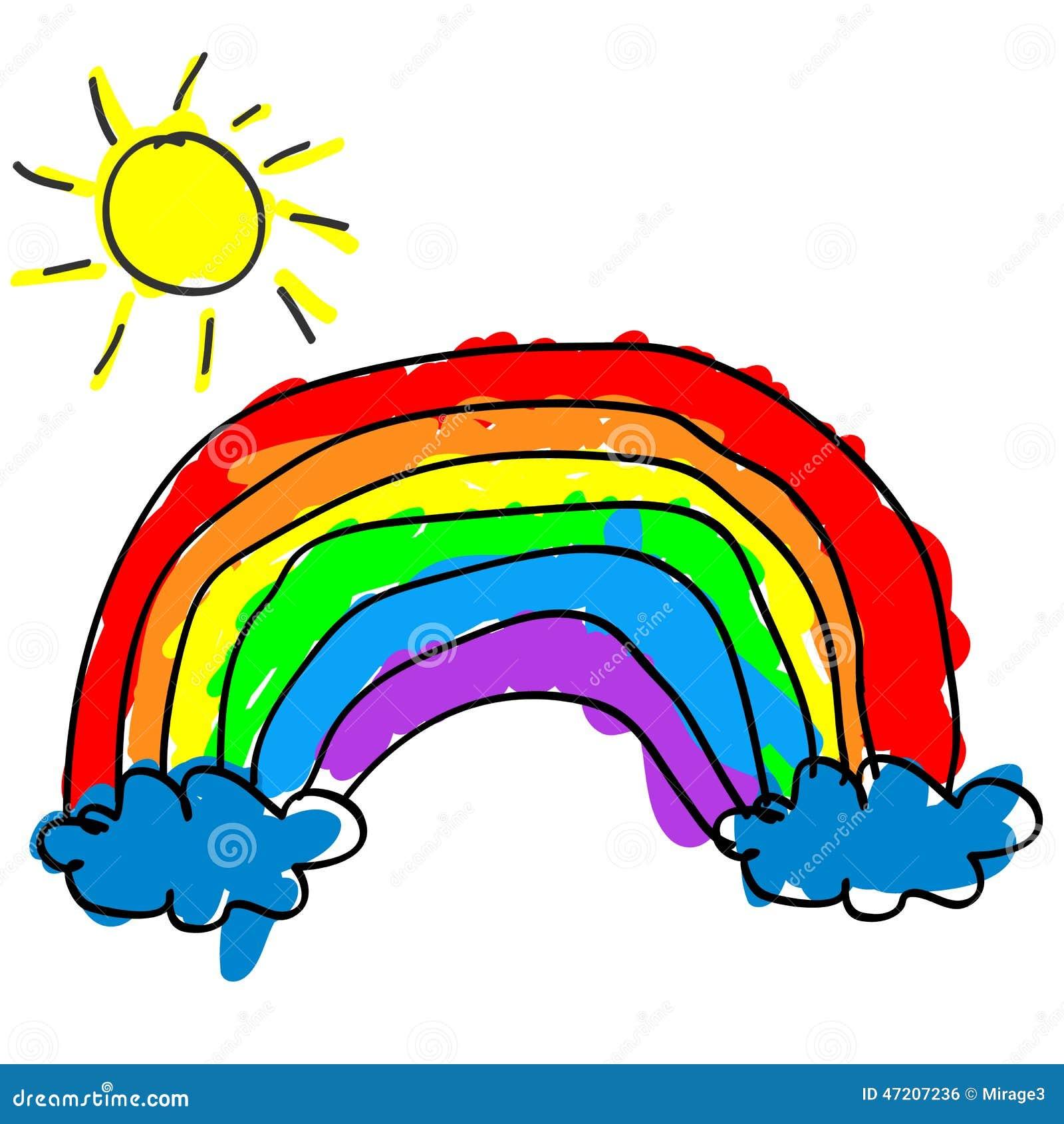 Arc en ciel d 39 enfant illustration de vecteur image 47207236 - Dessin arc en ciel ...