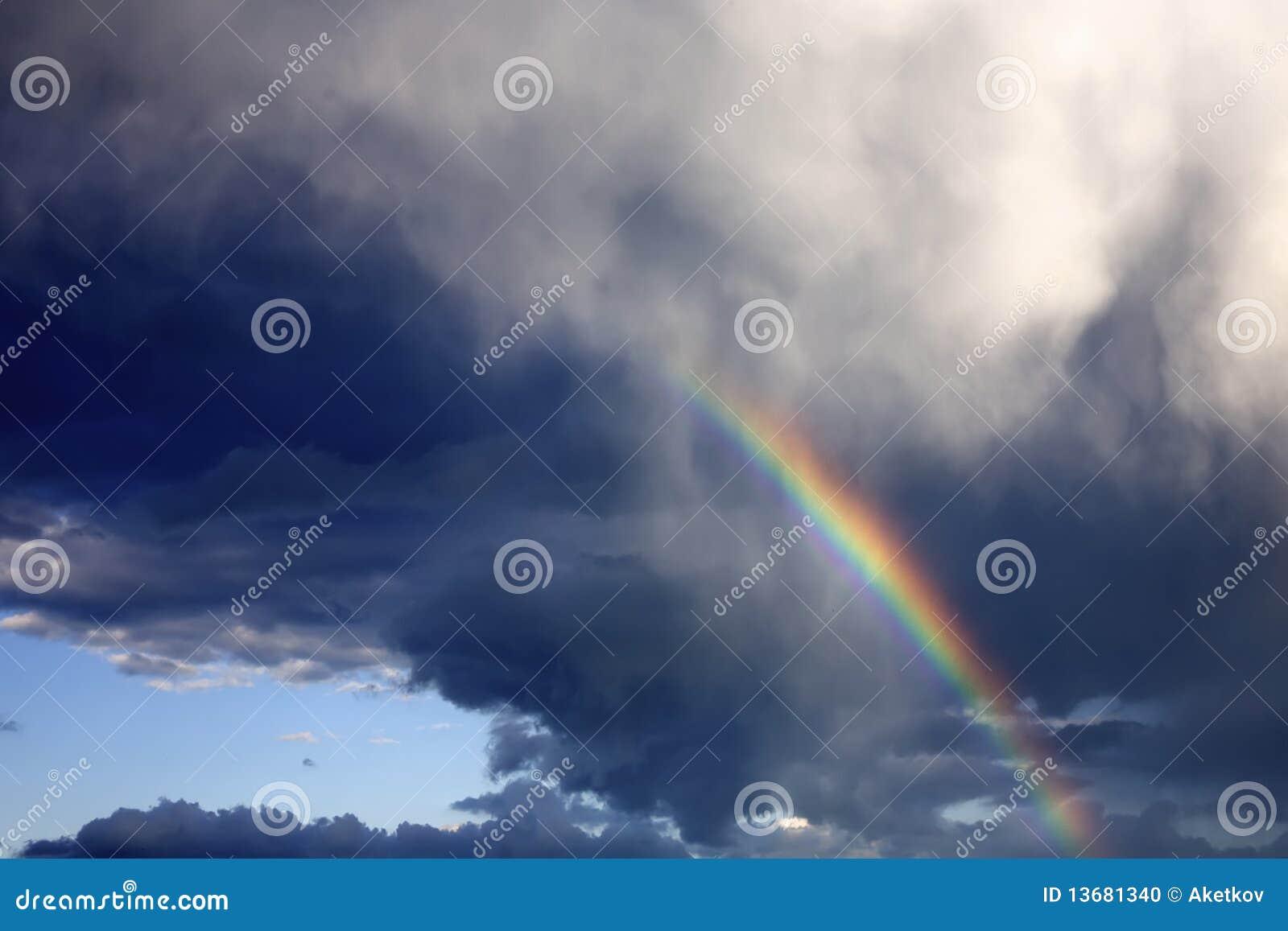 Arc-en-ciel dans le ciel