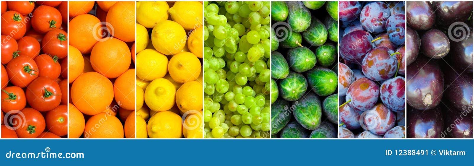 Arc-en-ciel de fruit