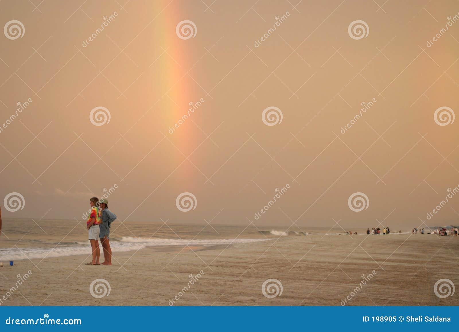 Arc-en-ciel de plage