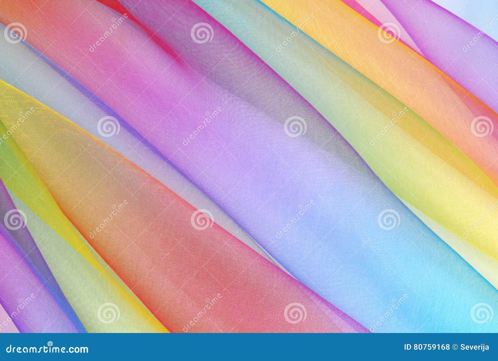 Arc en ciel de tissu d organza photos stock inscription - Image arc en ciel gratuite ...