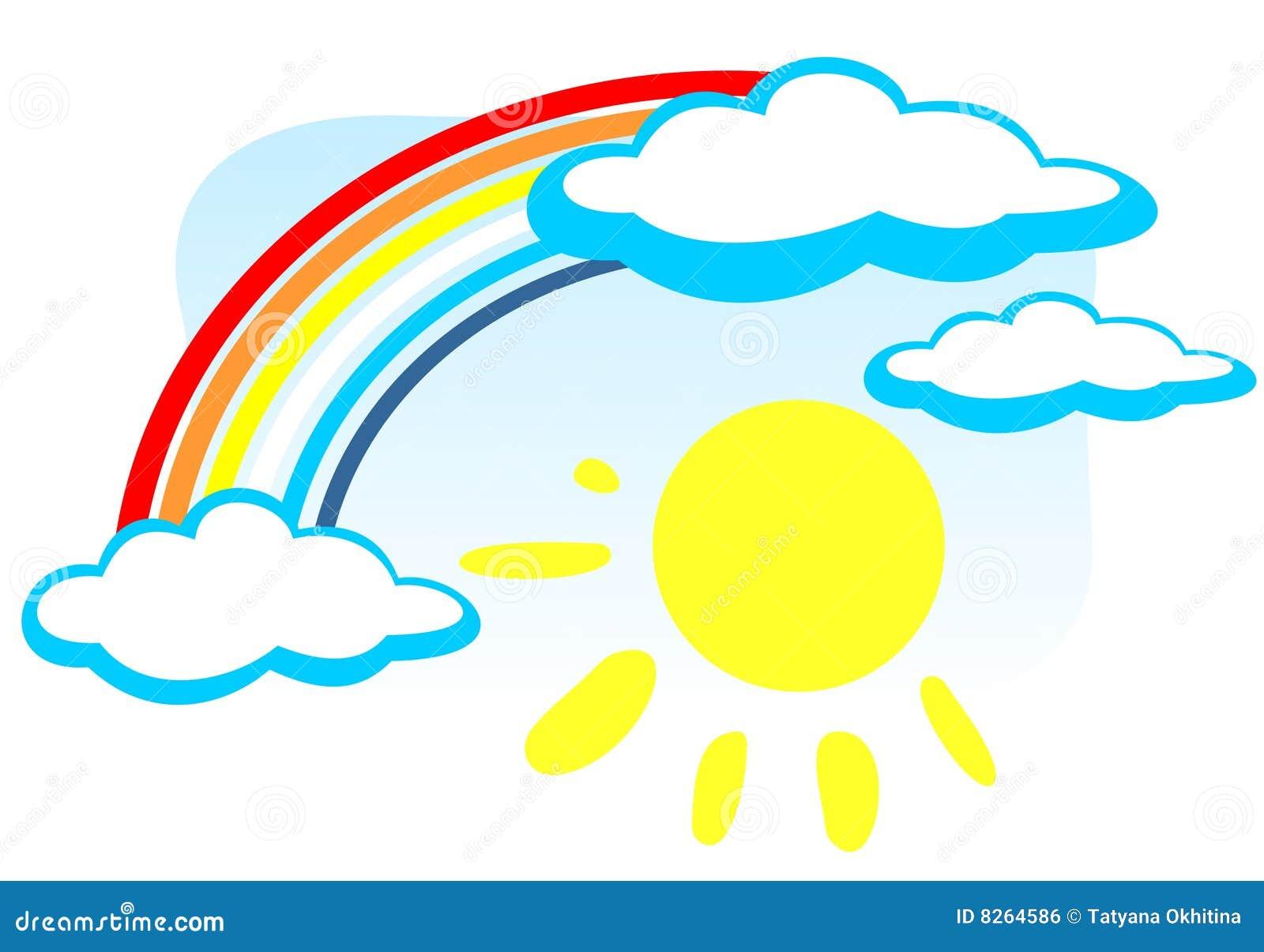 Arc en ciel et soleil illustration de vecteur - Image arc en ciel gratuite ...