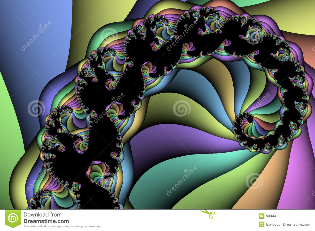 Download Arc-en-ciel spiralé illustration stock. Illustration du orange - 58344