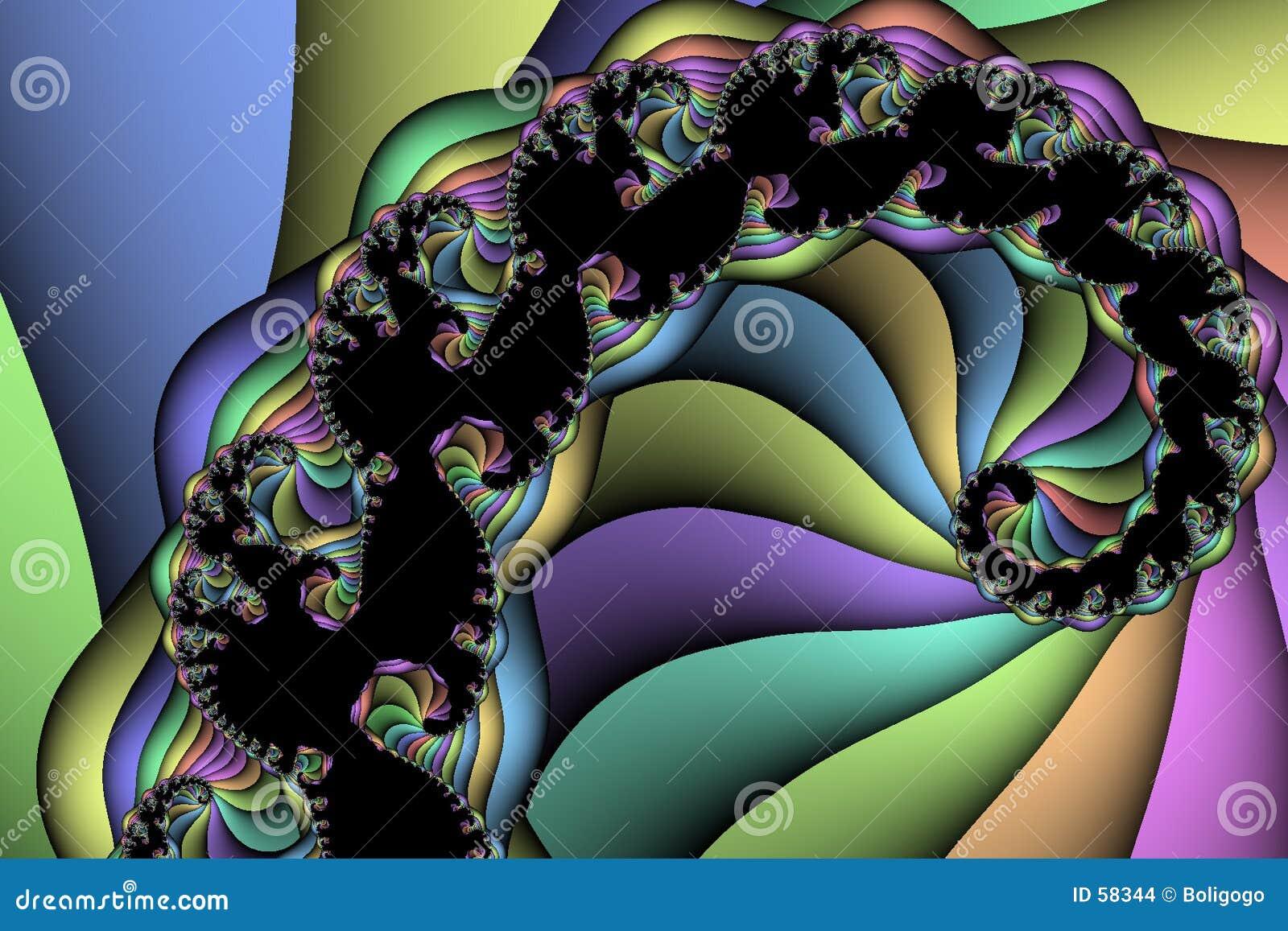 Download Arc-en-ciel spiralé illustration stock. Illustration du orange - 58344