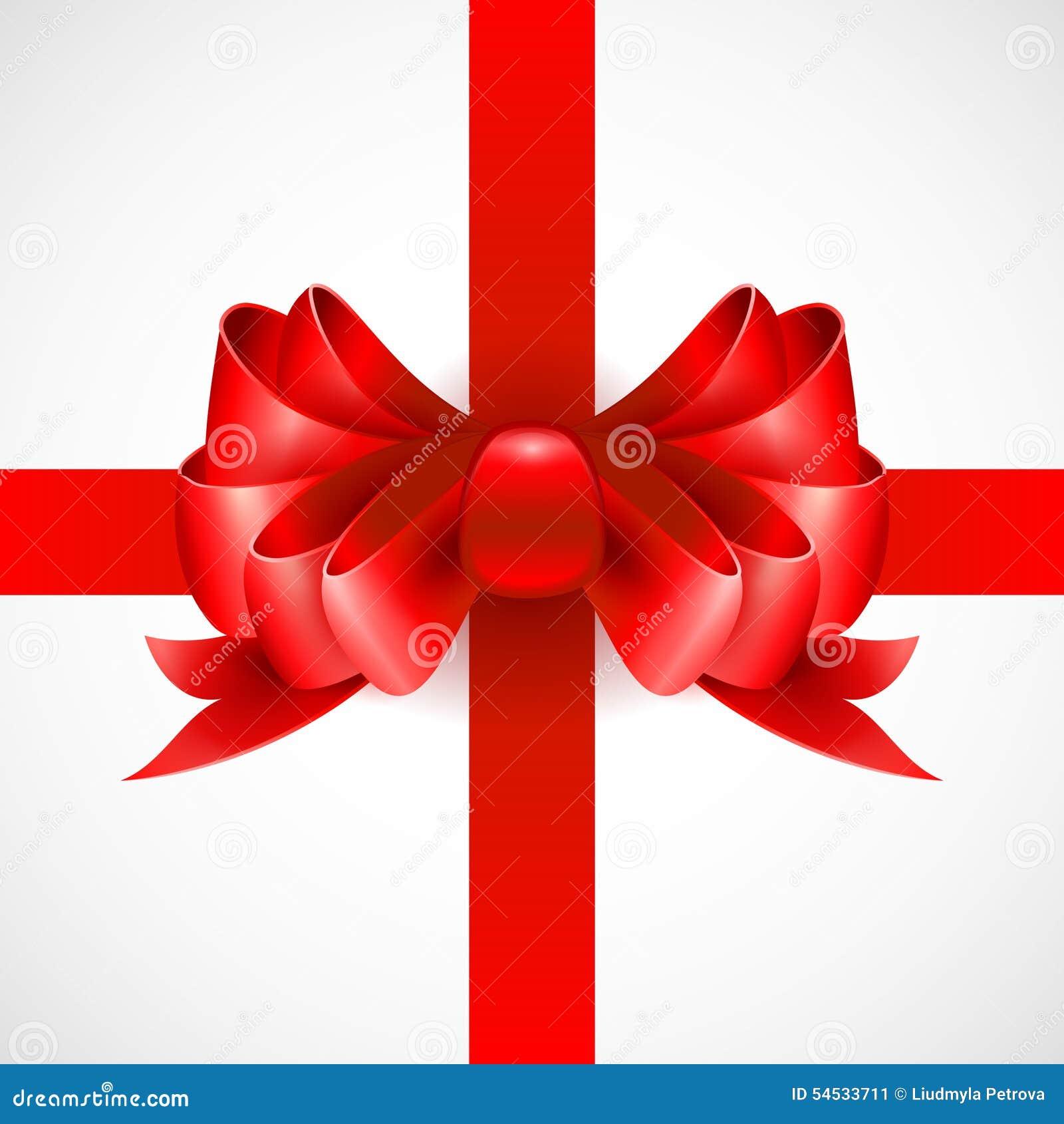 arc rouge sur un ruban pour un cadeau vecteur illustration de vecteur image 54533711. Black Bedroom Furniture Sets. Home Design Ideas