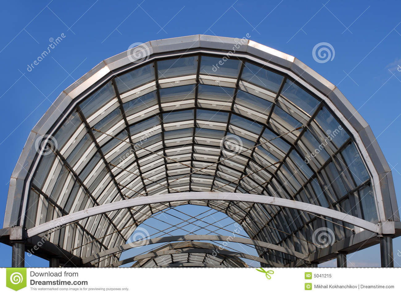 Arc steel and glass roof stock image image of support for Glass roof design