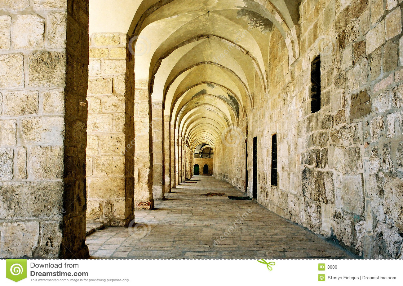 Arcada en Jerusalén.