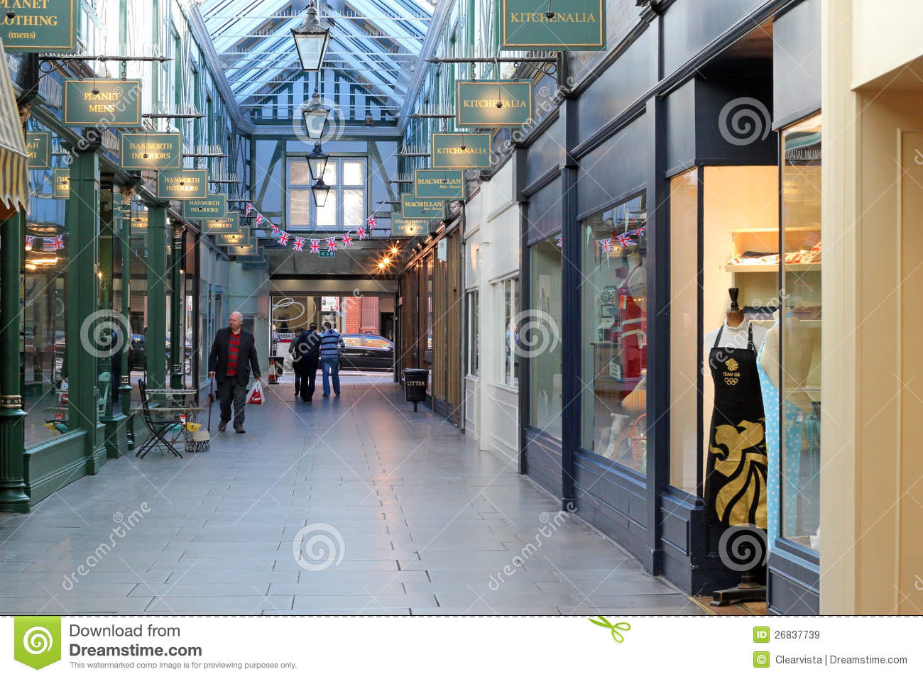 the arcade bedford uk editorial stock image image