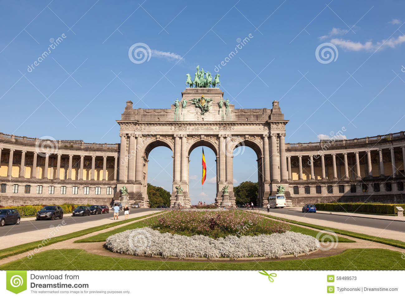 arcade du cinquantenaire in brussels belgium editorial stock photo image of triumphal europe. Black Bedroom Furniture Sets. Home Design Ideas