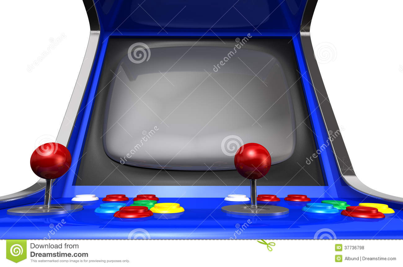 Arcade Game Wallpaper Group With 57 Items: Arcade Machine Closeup Stock Illustration. Illustration Of