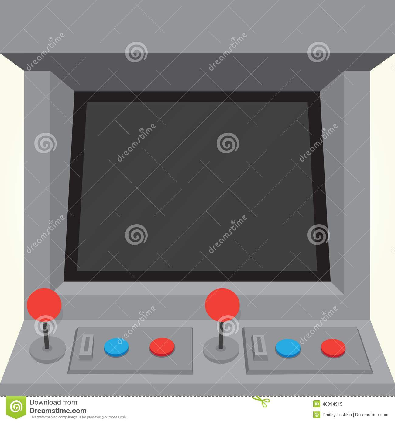 Arcade Machine Game Cabinet Isolated Vector Stock Vector - Image ...