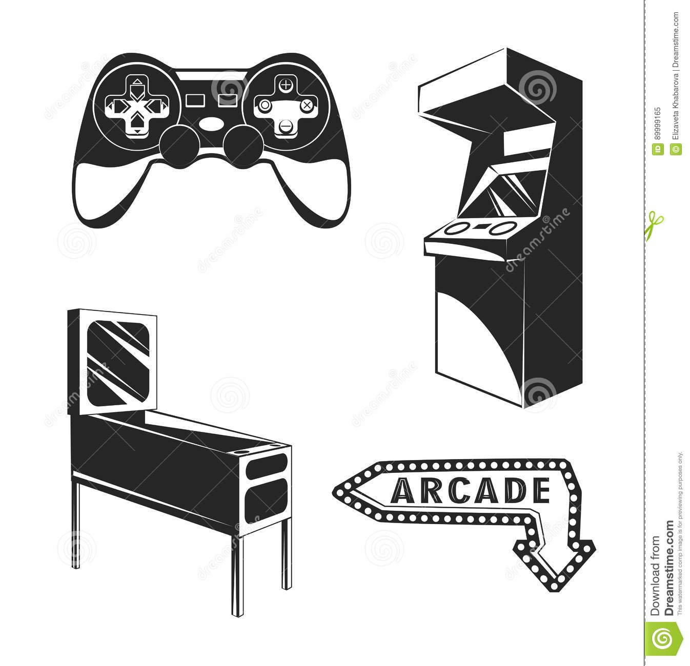 Gaming Arcade Machine With Blank Screen For Your Design