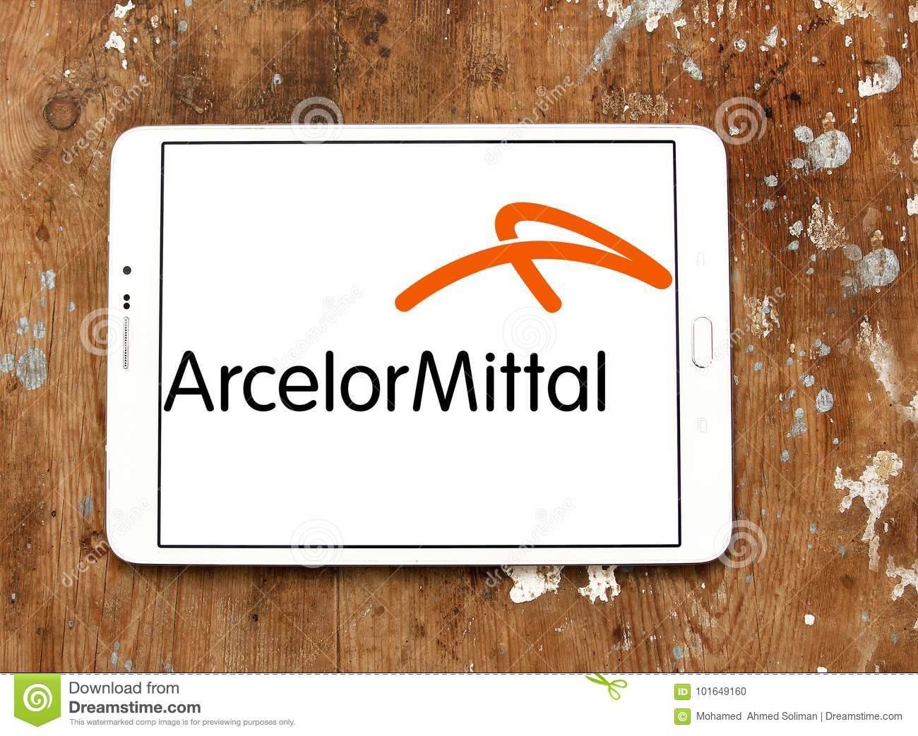 ArcelorMittal Steel Manufacturing Company Logo Editorial