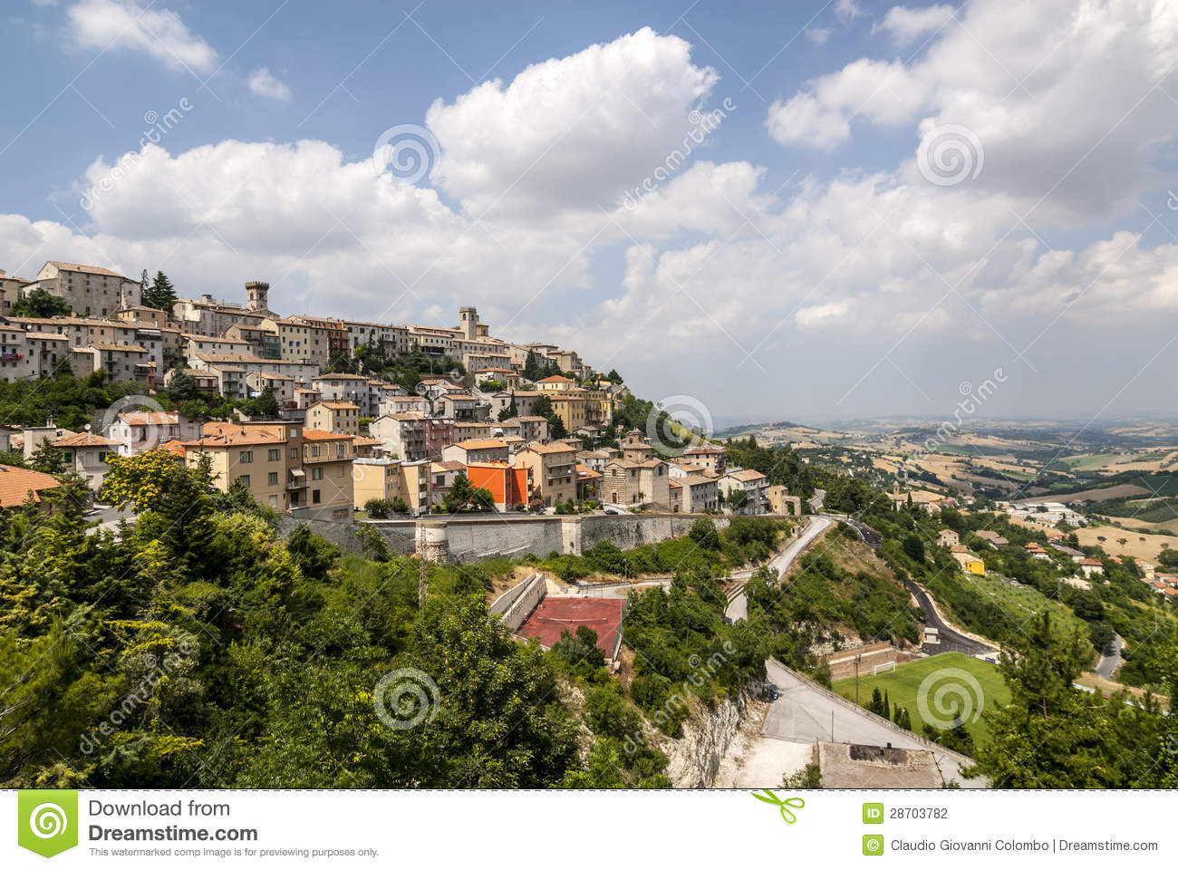 Arcevia Italy  City new picture : Panoramic view of Arcevia Pesaro Urbino, Marches, Italy at summer.