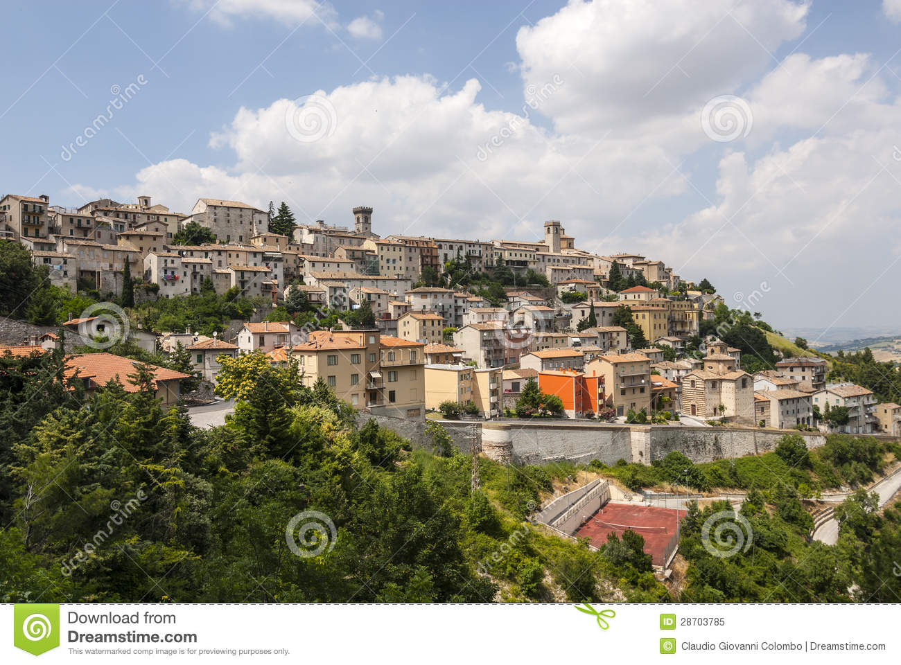 Arcevia Italy  city photo : Panoramic view of Arcevia Pesaro Urbino, Marches, Italy at summer.