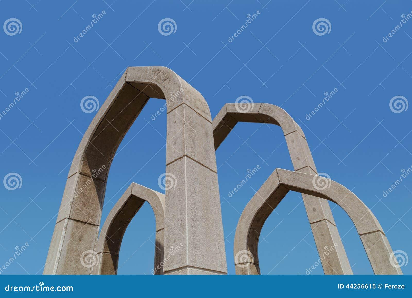 Arché nella rotonda di Ajman, Emirati Arabi Uniti