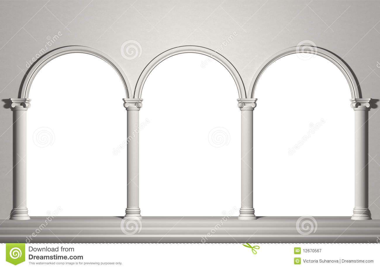 Arch With Columns Royalty Free Stock Photography Image