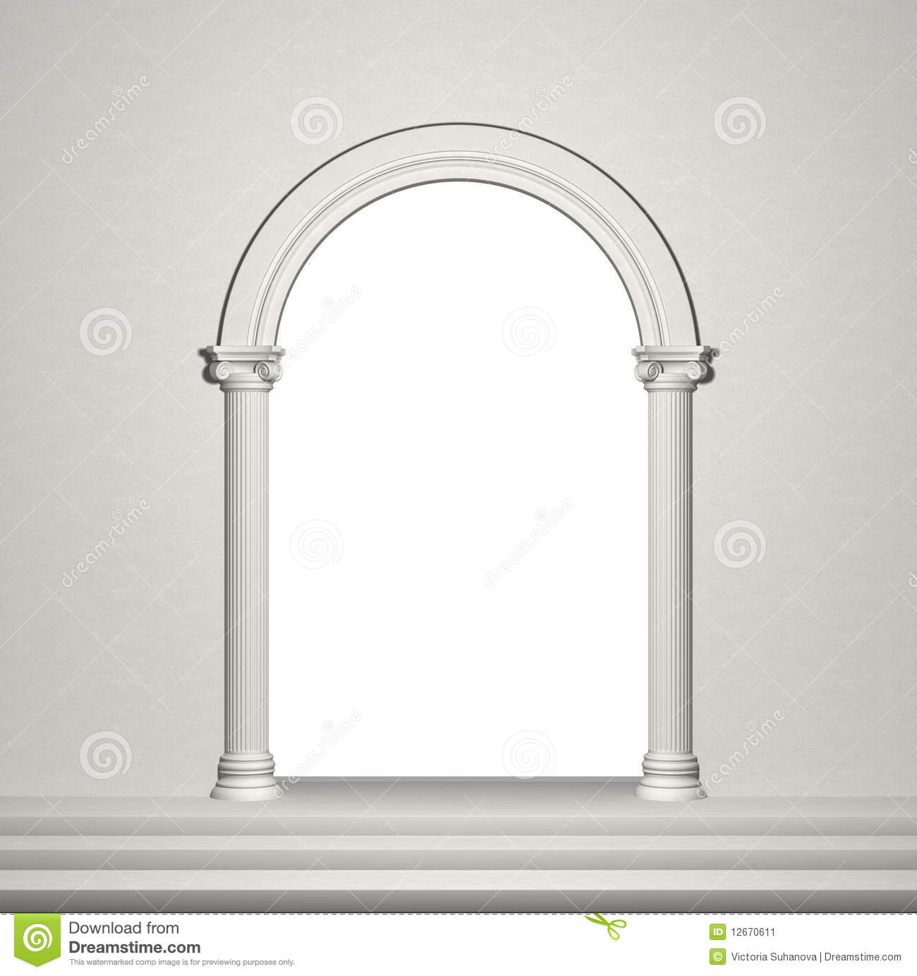 Arch With Columns Stock Image Image 12670611