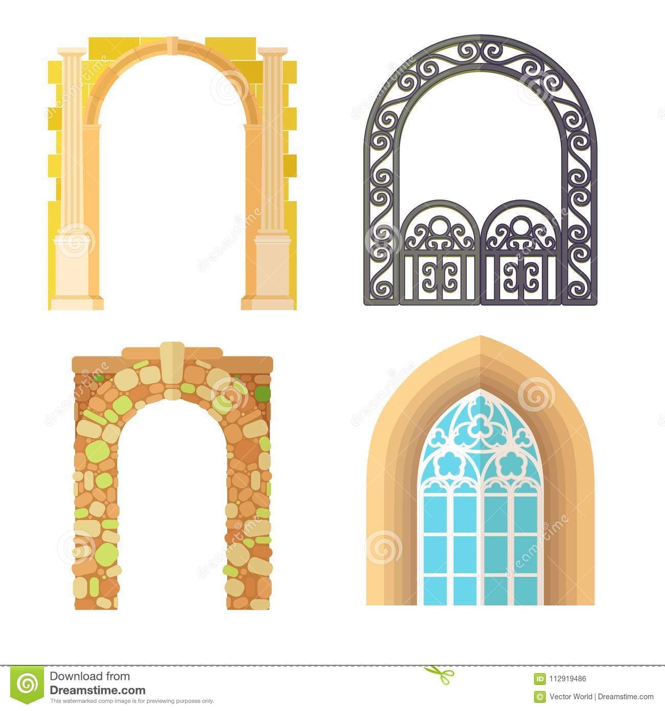 Arch Design Architecture Construction Frame Classic, Column Structure Gate  Door Facade And Gateway Building Ancient