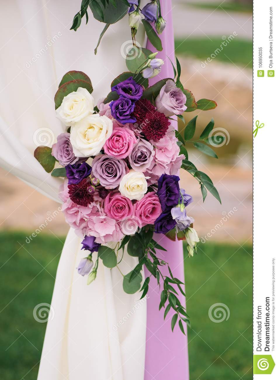Arch element with flowers for wedding decorations stock image download arch element with flowers for wedding decorations stock image image of closeup beauty junglespirit Choice Image