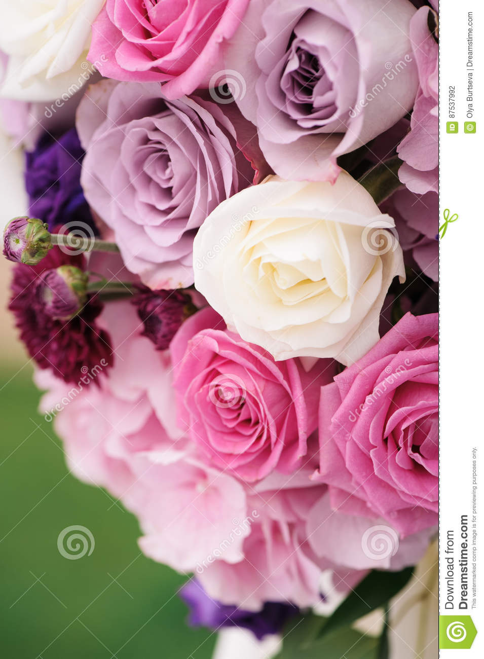 Arch Element With Flowers For Wedding Decorations Stock Photo ...