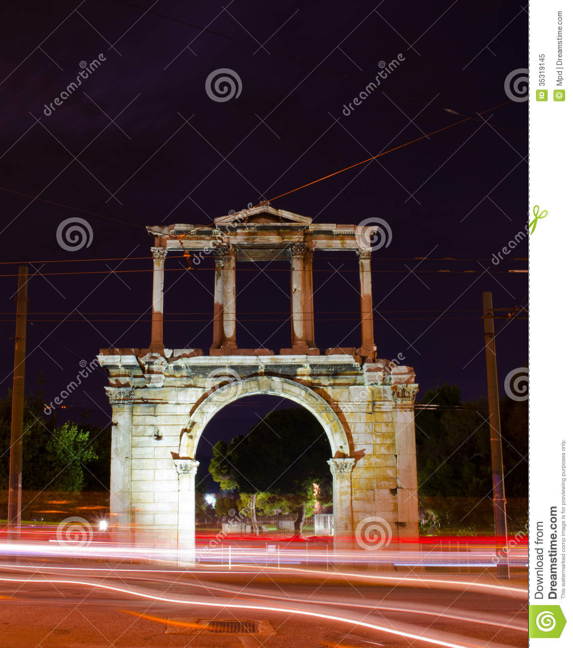 Arch of Hadrian stock image  Image of architecture, culture