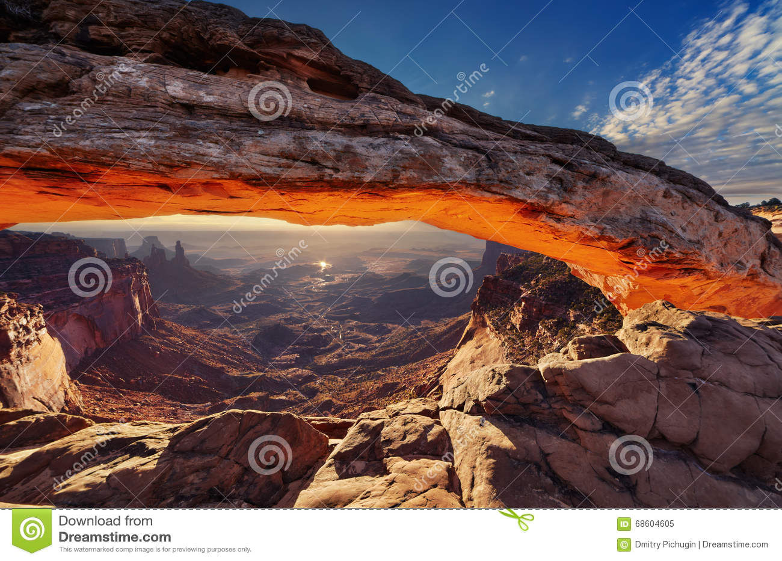 Arch mesa wschód słońca
