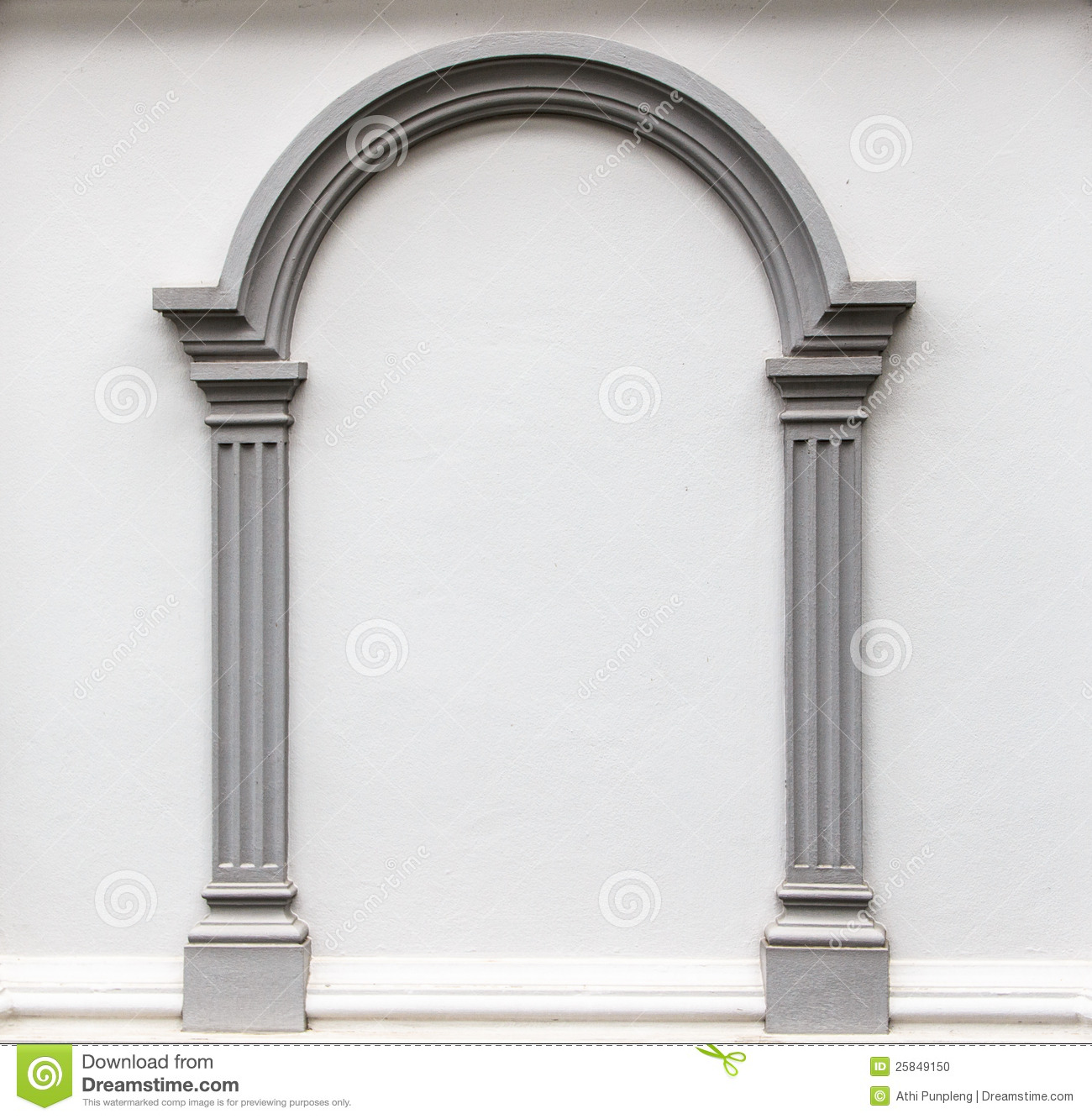 Arch Molding On The Wall Stock Photo - Image: 25849150