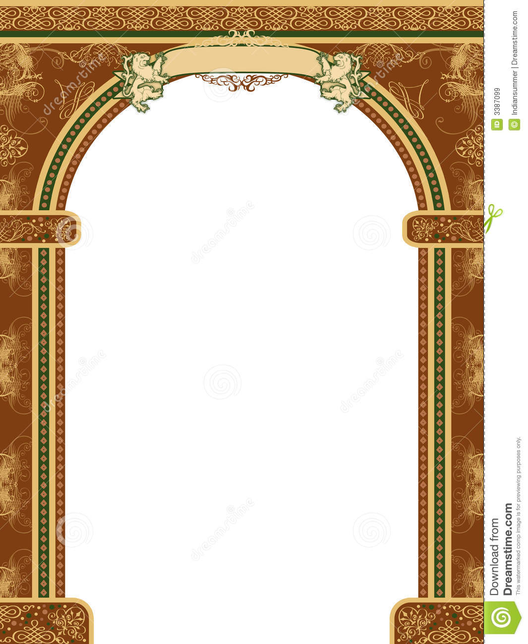 House Designs And Floor Plans In India Arch With Ornaments And Banner Stock Illustration Image