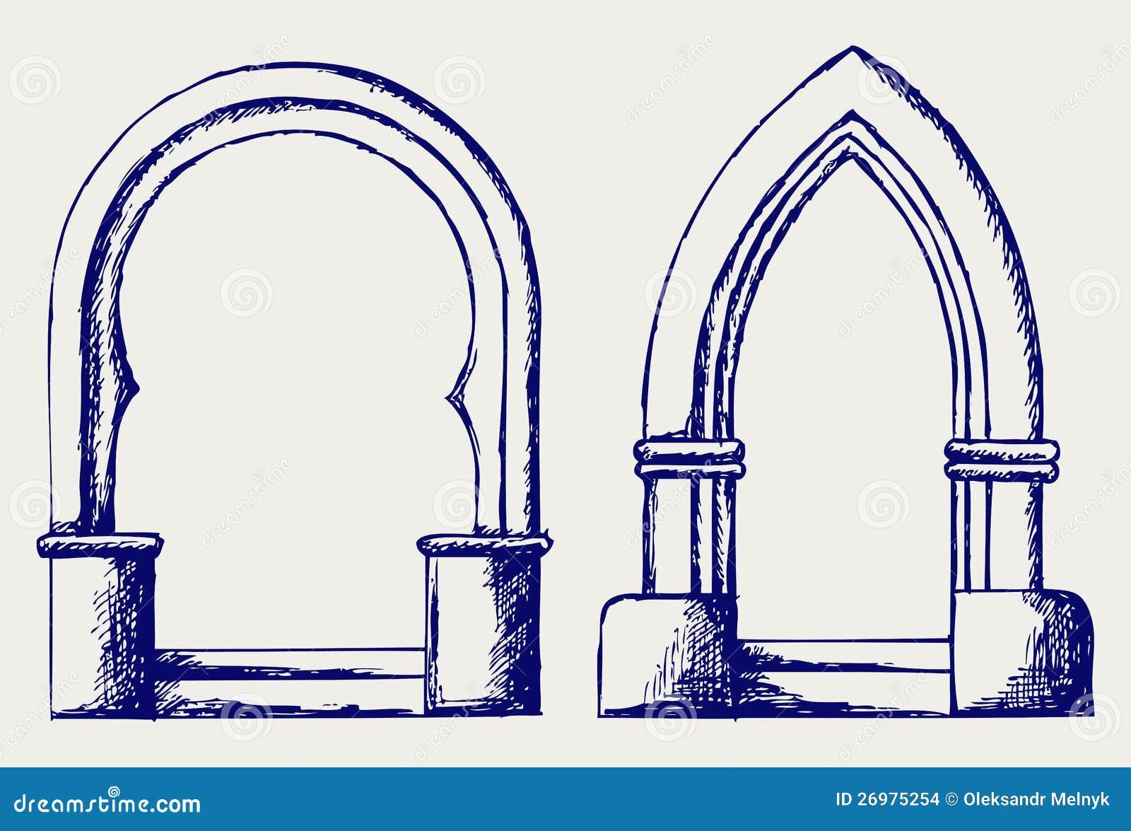Arch Design Vector Free Download