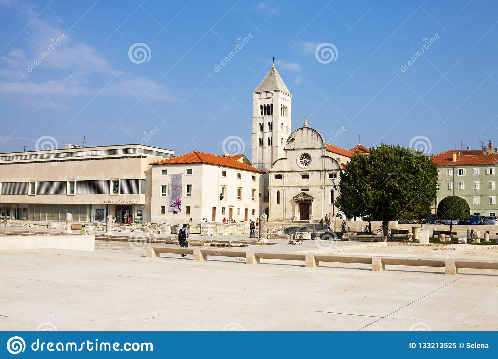 The Archaeological museum, St. Mary`s Church and other buildings