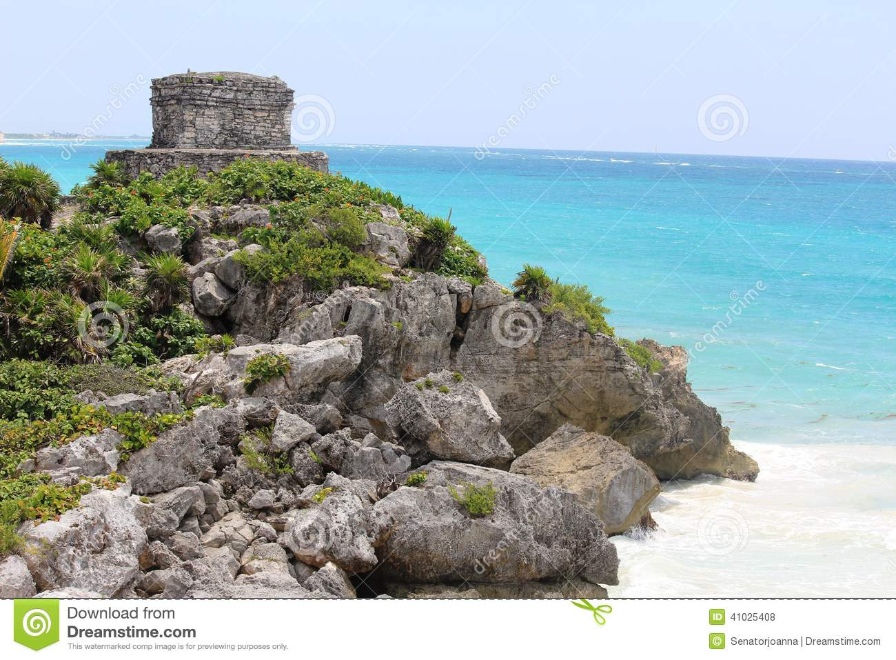 The archeological ruins of Tulum, Mexico