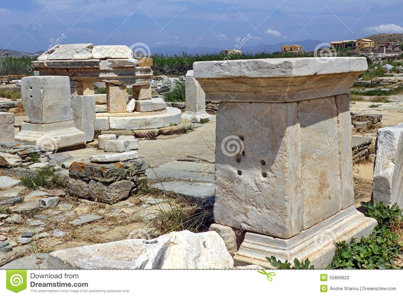 Ancient Delos Ruins, Greece Stock Photo - Image: 55869622