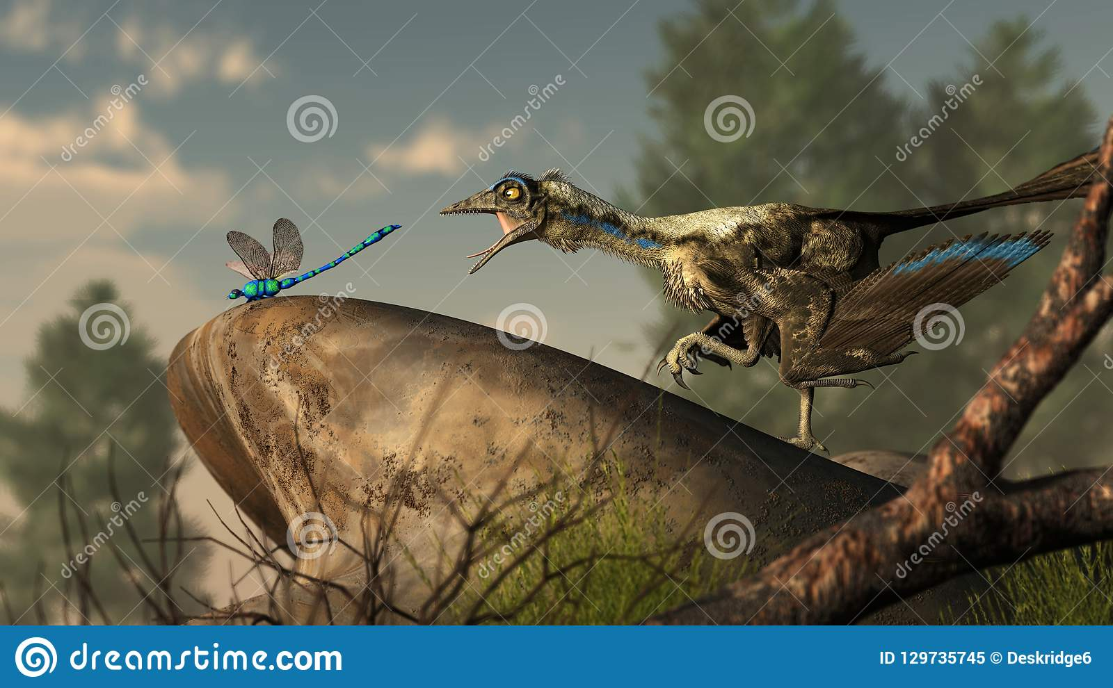 Archaeopteryx y libélula