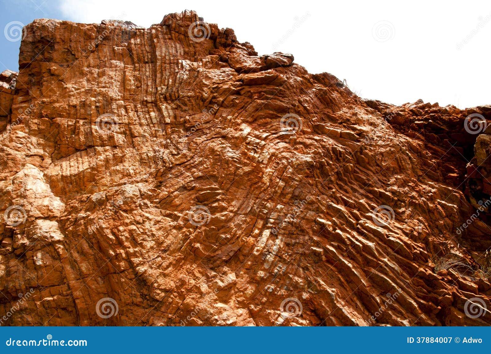 Archean rots het vouwen - de Structurele geologie