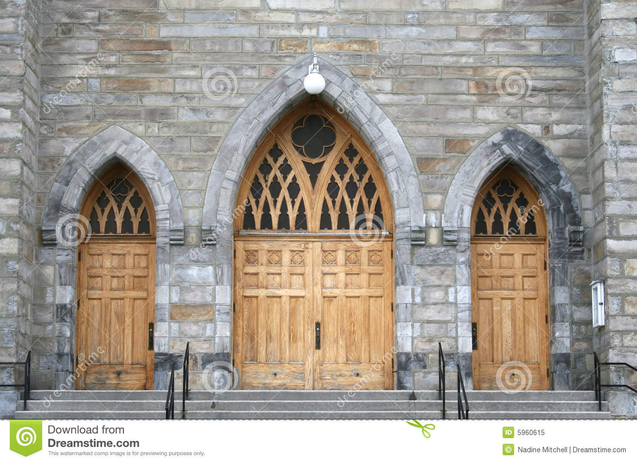Arched Church Doors Stock Image Image Of Paned Historic