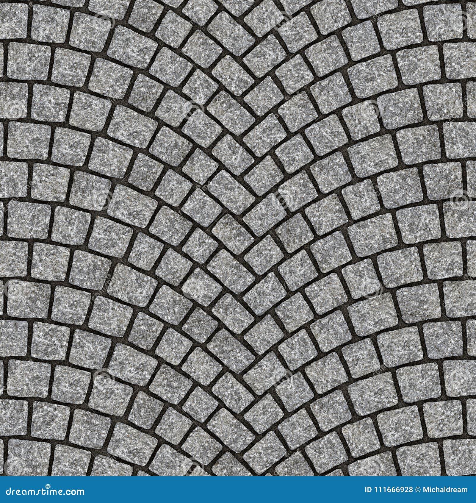 Arched cobblestone pavement texture 012