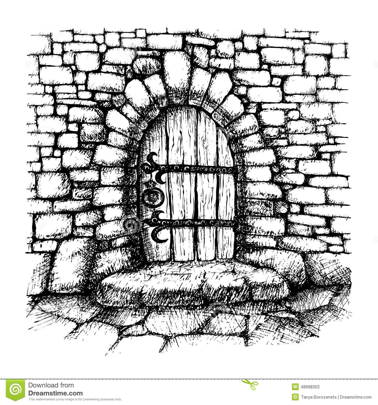 Arched Door Stock Vector Image 48998303