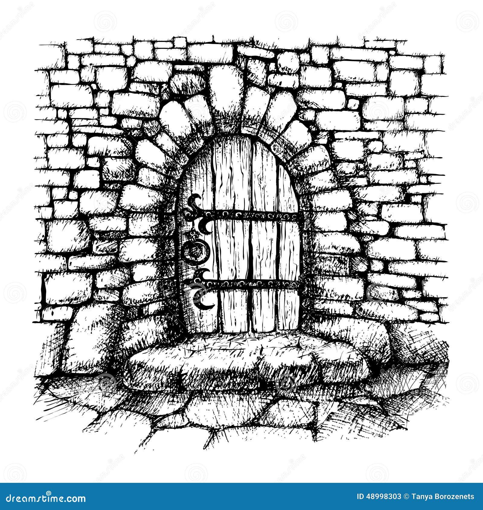 how to draw a garage door