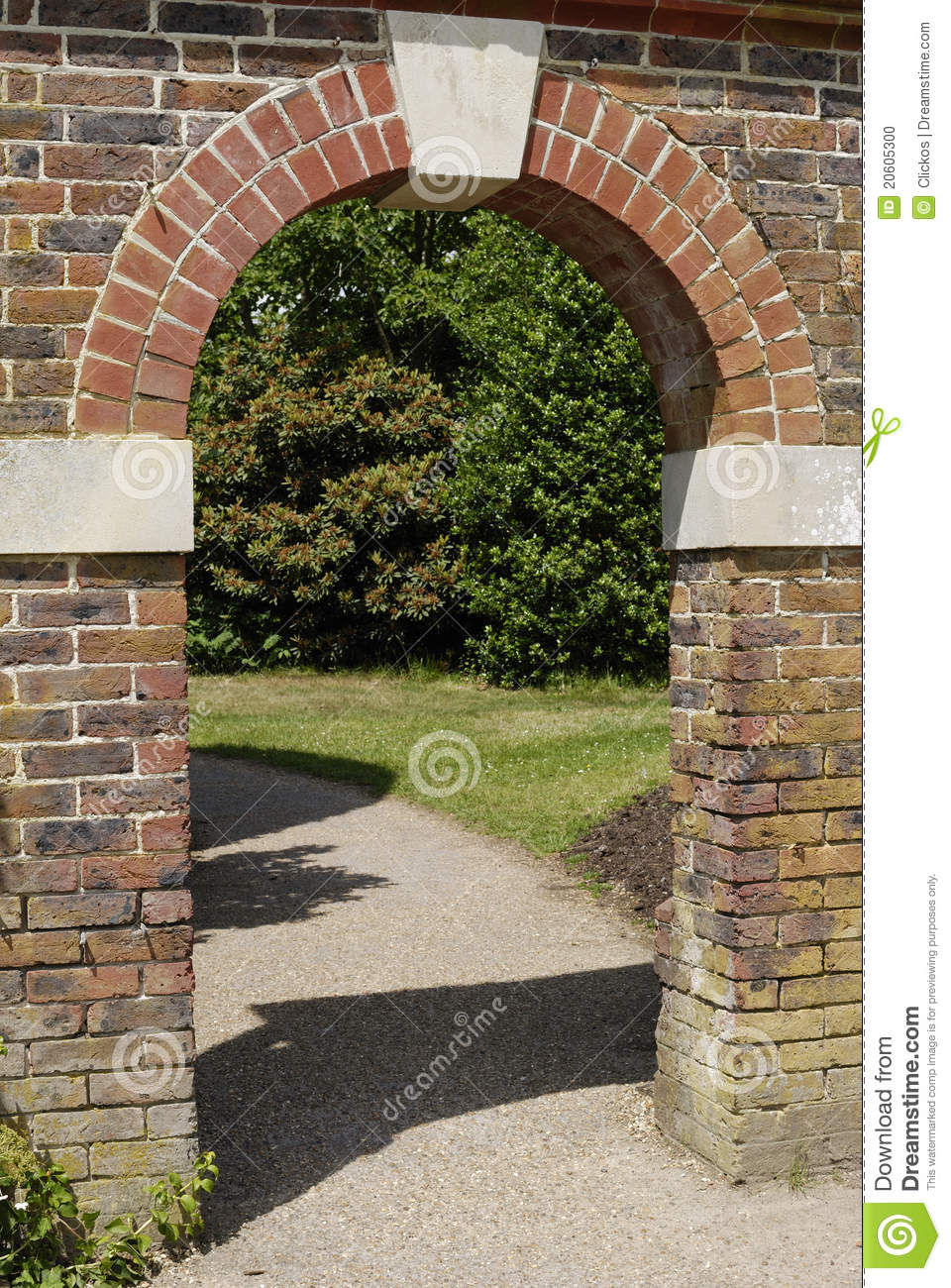 Arched Entrance In Brick Wall Stock Photo Image Of