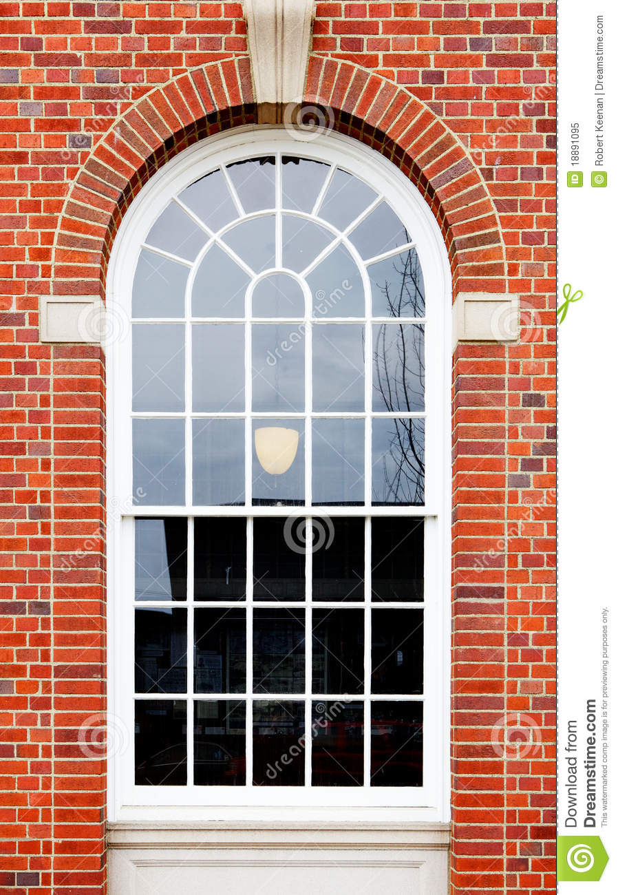 Arched window brick wall royalty free stock photo image for Window design arch