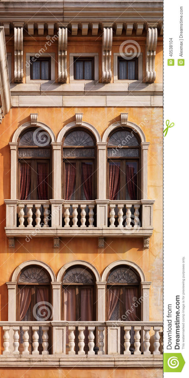 Arched windows of venetian house stock photo image 40538104 - Houses with arched windows ...