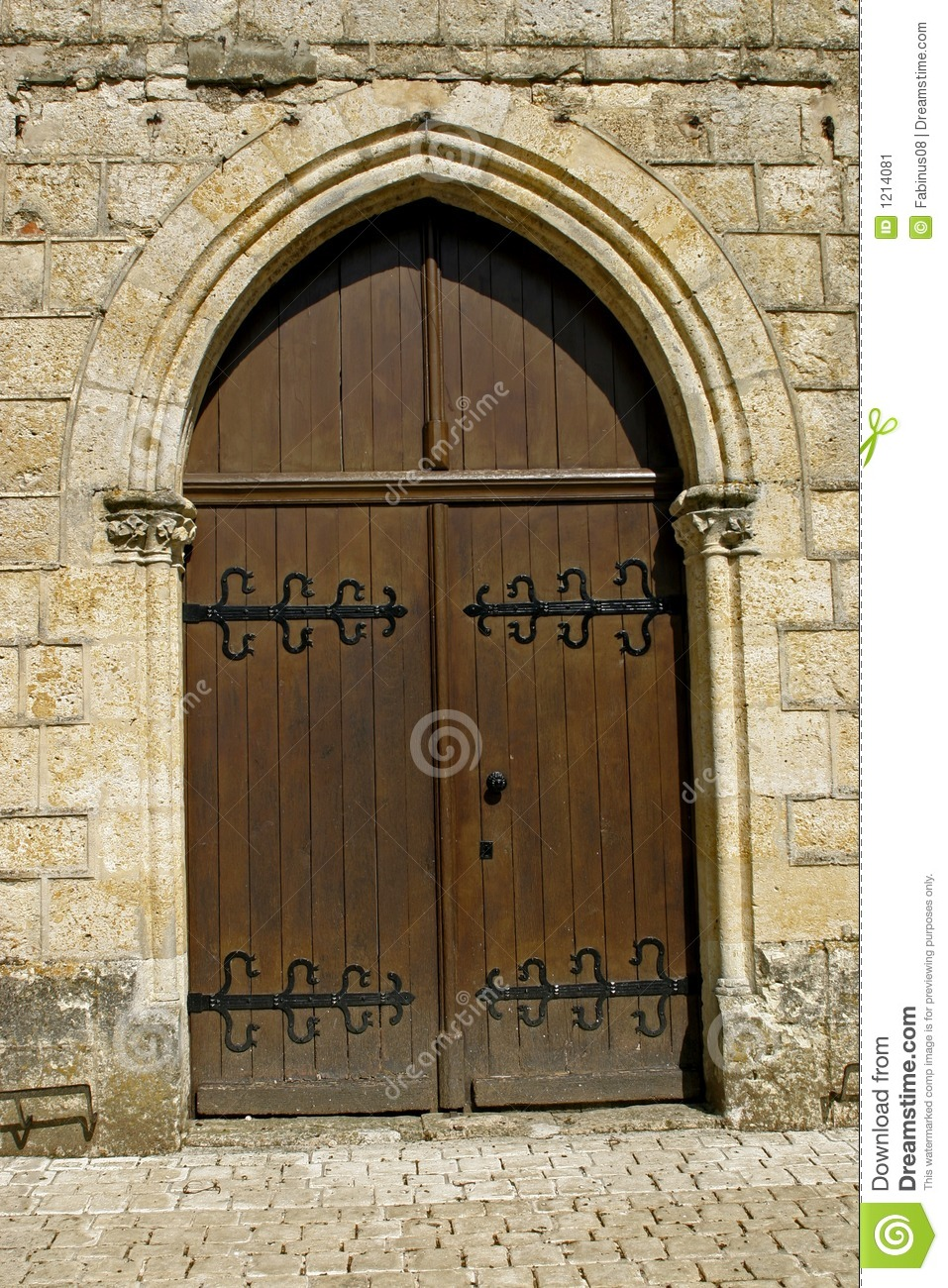 Arched Wooden Door Stock Image Image Of Outdoors Church