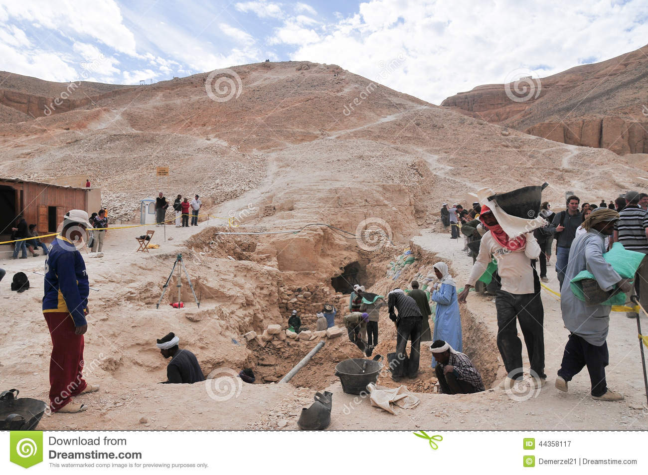 Download Archeological Dig, Valley Of The Kings, Egypt Editorial Photography - Image of face, west: 44358117