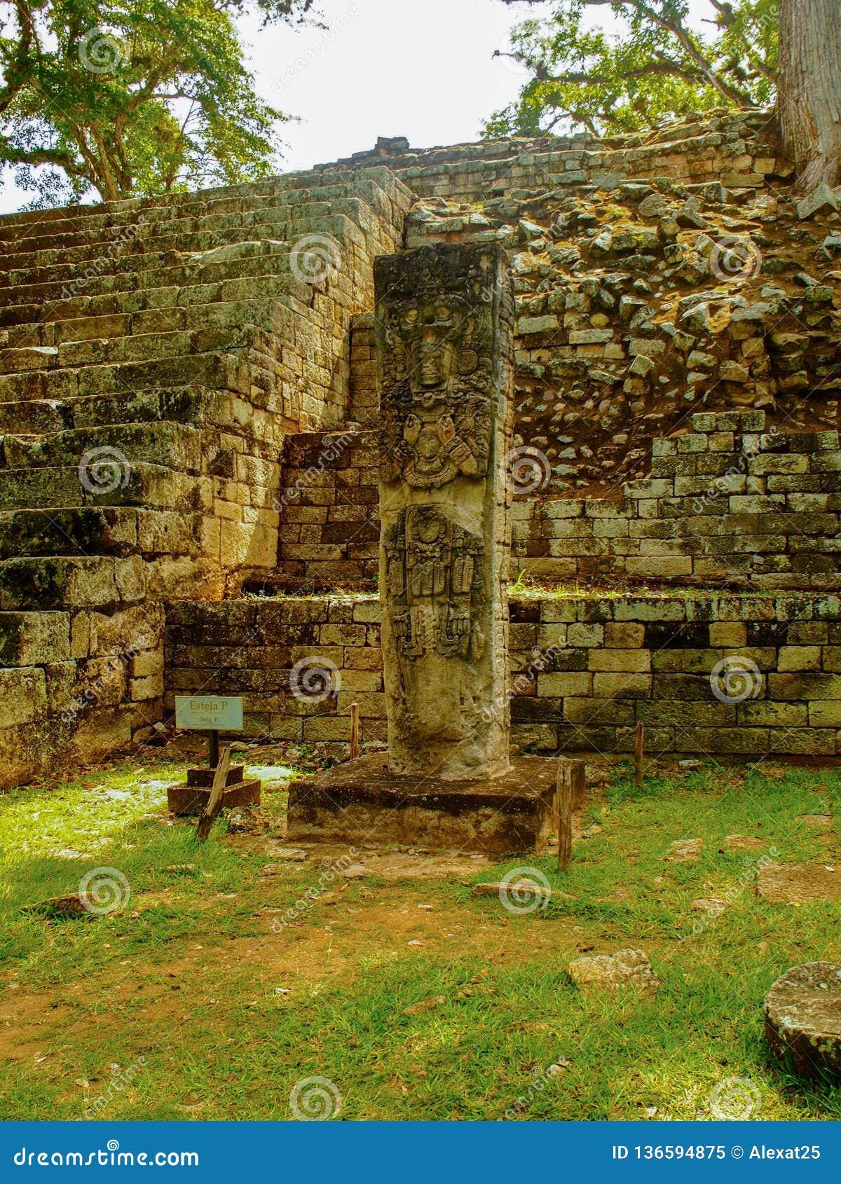Archeological site of Copan in Honduras
